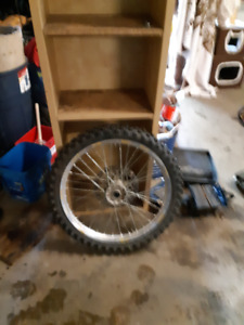 1995 YZ125/250 Front Rim, Tire, Rotor