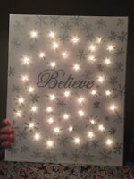Personalized Christmas Lighted Canvas Decoration