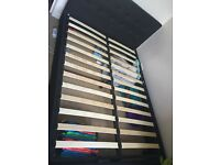 Fabric ottoman storage bed