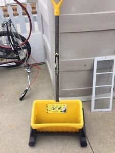 Salt and sand spreader for driveway and sidewalks