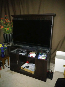 TV cabinet - dark brown
