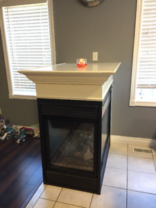 3-sided gas fireplace