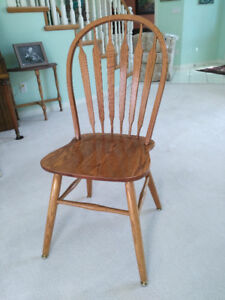 Solid Oak dining room chairs, in excellent shape. 6 chairs $400.