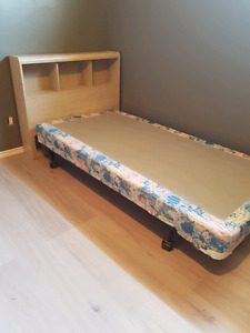 Twin bed frame , head board, and box spring