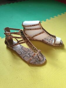 Ladies size 10 faux snakeskin sandals