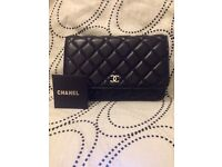 Chanel wallet on chain/bag