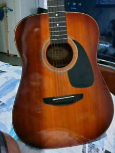 "80""s Samick acoustic one piece guitar HONDO style Everton Park Brisbane North West Preview"