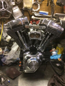 "95"" Harley A Touring Engine black & chrome"