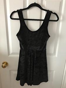 TOPSHOP Black Velvet Dress