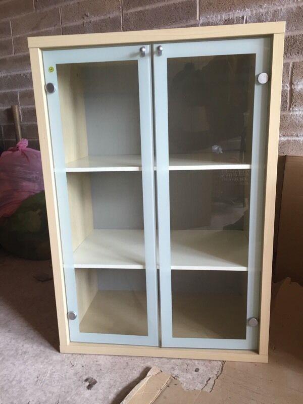 Ikea Magiker Hifi Cupboard Book Shelf Unit Glass Door In Cardiff Gumtree