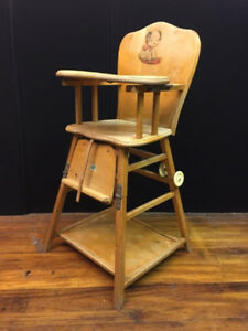 High Chair, wood, old fashioned
