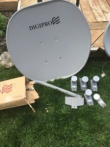 FTA satellite dishes with LNBs