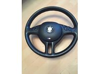 E46 BMW steering wheel with airbag