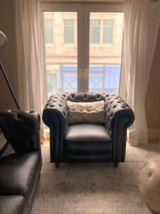 Faux Leather Arm Chair- Perfect condition- Structube