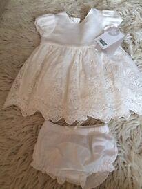 Christening Dress -Mamas & Papas, 0-3 months