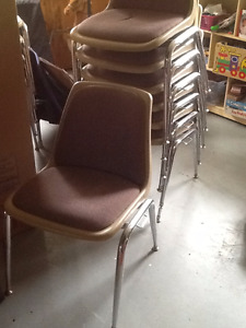 12 stacking chairs $7.00 each