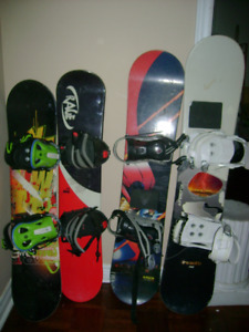 Snowboard with bindings for kids