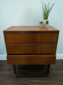 Retro Danish Teak chest of drawers from the 1960's Free local delivery