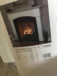 White Fireplace Mantel, Never been used, in box