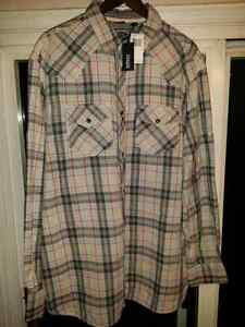 BNWT Men's Buffalo XLT Western Plaid Shirt
