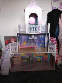 Wooden dolls Princess castle
