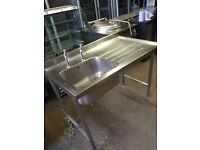Commercial stainless steel sink