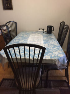 Dining table only or with 6 chairs