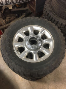 "20"" Superduty aluminum wheels with 35"" tires"