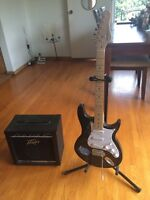 Behringer Electric Guitar and Peavey Amp