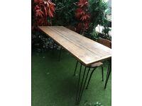 8 seater hairpin leg table