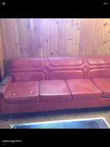Antique leather sofa and chair St. John's Newfoundland image 2