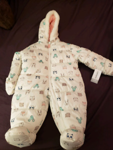 New carters girls snowsuit- 6-9 months