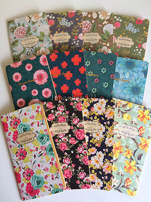 Novelty Cute Pretty Classic elegant Vintage floral notebook diary scrapbook memo