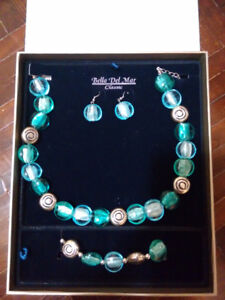 Bella Del Mar Classic Collection Jewelry Set -Torqouise & Silver