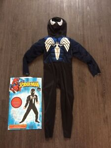Size 4-6 Venom, Black Spider-Man Halloween costume