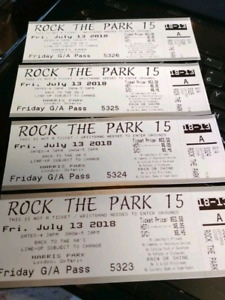 4 Rock the park tickets