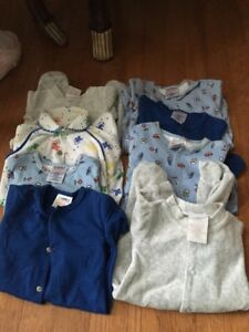 8 overalls for new born baby boy