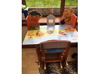 Children desk and chair set.