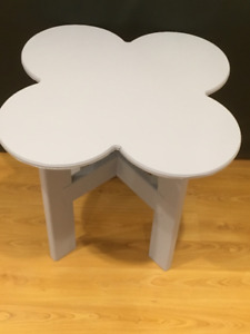 Wooden Flower Side Table
