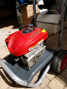 Pressure washer motor and cart