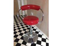 Red retro bar stool good condition