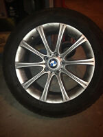 """18"""" BMW OEM Mag Wheels with Winter Tires"""