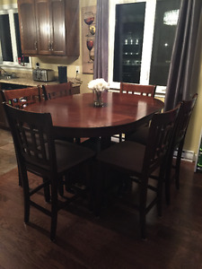 Pub Style Dining Table (6 Chairs)