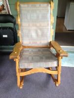 Large solid wood rocking chair