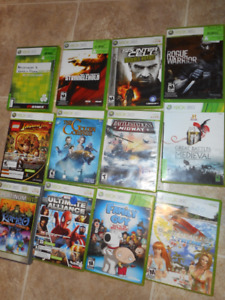 xbox 360 games 5 each or make a offer