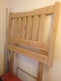 natural wood Headboard for single bed