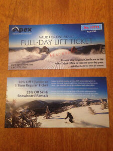 2 FULL DAY LIFT TICKETS (APEX)