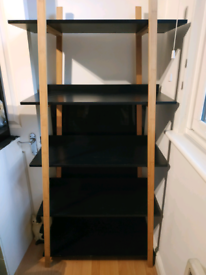 Wood shelves stand