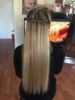Hair extensions get prom/summer ready  fusion hair micro tape