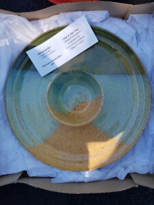 Pottery Chip & Dip Tray - brand new in box